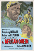 "Movie Posters:Adventure, The African Queen (Romulus, R-1950s). Rolled, Very Fine. British Silk Screen One Sheet (27"" X 40""). Adventure.. ..."