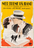 "Movie Posters:Drama, Alias the Deacon (Big-U, 1927). Folded, Fine/Very Fine. Swedish One Sheet (28"" X 39.5""). Drama.. ..."
