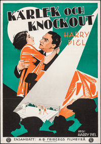 "Bobby Geht Los (Deutsche Universal-Film, 1931). Folded, Very Fine-. Swedish One Sheet (27.5"" X 39.5""). Foreign..."