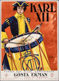"Charles XII (Svenskfilm, 1925). Folded, Very Fine-. Swedish One Sheet (34"" X 46.5"") Hakansson Artwork. Foreign..."
