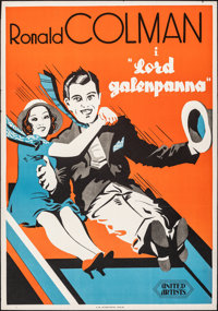 """The Devil to Pay (United Artists, 1932). Folded, Fine/Very Fine. Swedish One Sheet (27.5"""" X 39.25""""). Comedy..."""