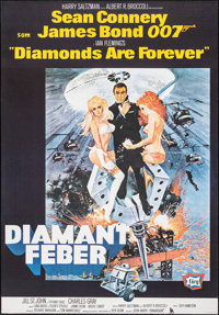 """Diamonds are Forever (United Artists, R-1982). Very Fine+ on Chartex. Full-Bleed Swedish One Sheet (27.25"""" X 39&quo..."""