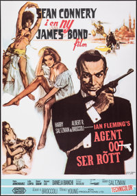 """From Russia with Love (United Artists, R-1979). Very Fine+ on Linen. Swedish One Sheet (27.25"""" X 39"""") Renato F..."""