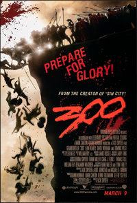 "300 & Other Lot (Warner Bros., 2006). Rolled, Very Fine+. One Sheets (2) (27"" X 40"") SS Advance. Actio..."