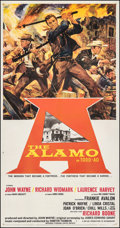 "Movie Posters:Western, The Alamo (United Artists, 1960). Fine/Very Fine on Linen. Three Sheet (41.25"" X 79""). Reynold Brown Artwork. Western.. ..."