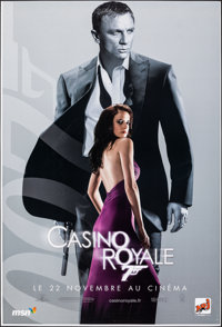 """Casino Royale (MGM, 2006). Rolled, Very Fine+. French Subway (46.5"""" X 69"""") DS Advance, Vesper Lynd Style. Jame..."""
