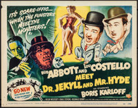 Abbott and Costello Meet Dr. Jekyll and Mr. Hyde (Universal International, 1953). Fine/Very Fine. Title Lobby Card (11&q...