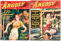 Pulps:Adventure, Argosy Group of 2 (Munsey, 1942) Condition: Average FN.... (Total: 2 Items)