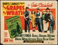 "Movie Posters:Drama, The Grapes of Wrath (20th Century Fox, R-1947). Fine. Title Lobby Card (11"" X 14""). Drama.. ..."