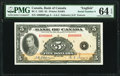 Canada Bank of Canada $5 1935 BC-5 Serial Number 8 PMG Choice Uncirculated 64 EPQ