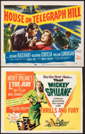 Movie Posters:Film Noir, I, the Jury & Other Lot (United Artists, 1953). Overall: Fine/Very Fine. Trimmed Title Lobby Card & Title Lobby Card (Approx... (Total: 2 Items)