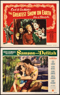 """Movie Posters:Adventure, Samson and Delilah & Other Lot (Paramount, 1949). Fine/Very Fine. Lobby Cards (2) (11"""" X 14""""). Adventure.. ... (Total: 2 Items)"""