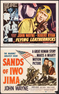 "Movie Posters:War, Sands of Iwo Jima & Other Lot (Republic, 1950). Overall: Fine+. Title Lobby Card & Lobby Card (11"" X 14""). War.. ... (Total: 2 Items)"