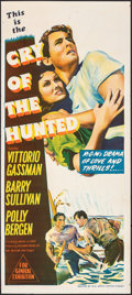 """Movie Posters:Action, Cry of the Hunted & Other Lot (MGM, 1953). Folded, Very Fine. Australian Daybills (2) (13.25"""" X 30""""). Action.. ... (Total: 2 Items)"""