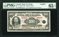 World Currency, Canada Bank of Canada $100 1935 BC-15 PMG Gem Uncirculated 65 EPQ.. ...