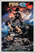"Movie Posters:Animation, Fire and Ice (20th Century Fox, 1983). Rolled, Very Fine+. One Sheet (27"" X 41""). Frank Frazetta Artwork. Animation.. ..."