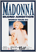 "Movie Posters:Miscellaneous, Madonna: Blond Ambition & Other Lot (Pioneer, 1990). Rolled, Very Fine. German Concert Poster (23.25"" X 33"") & Album Poster ... (Total: 2 Items)"