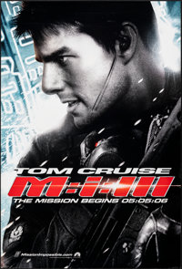 "Mission: Impossible III & Other Lot (Paramount, 2006). Rolled, Overall: Very Fine. One Sheets (3) (27"" X 40&quo..."