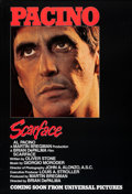 """Movie Posters:Crime, Scarface (Universal, 1983). Rolled, Very Fine+. One Sheet (27"""" X 39.5"""") Advance. Crime.. ..."""
