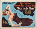 "Movie Posters:Film Noir, Born to be Bad (RKO, 1950). Fine+. Title Lobby Card (11"" X 14""). Film Noir.. ..."