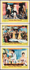 """Movie Posters:Musical, Gentlemen Marry Brunettes (United Artists, 1955). Very Fine. Lobby Cards (3) (11"""" X 14""""). Musical.. ... (Total: 3 Items)"""