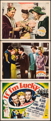 If I'm Lucky & Other Lot (20th Century Fox, 1946). Very Fine-. Title Lobby Card & Lobby Cards (2) (11&qu...