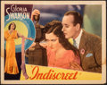 "Movie Posters:Drama, Indiscreet (United Artists, 1931). Very Good/Fine. Lobby Card (11"" X 14""). Drama.. ..."