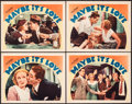 "Movie Posters:Romance, Maybe It's Love (Warner Bros., 1935). Very Fine. Lobby Cards (4) (11"" X 14""). Romance.. ... (Total: 4 Items)"