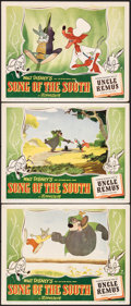 "Movie Posters:Animation, Song of the South (RKO, 1946). Very Fine-. Lobby Cards (3) (11"" X 14""). Animation.. ... (Total: 3 Items)"