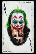 "Movie Posters:Crime, Joker (Warner Bros., 2019). Rolled, Very Fine/Near Mint. International IMAX One Sheet (27"" X 39.75"") DS Advance Playing Card..."