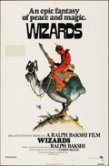 "Movie Posters:Animation, Wizards (20th Century Fox, 1977). Folded, Fine+. One Sheet (27"" X 41"") Style A, William Stout Artwork. Animation.. ..."