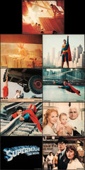 """Movie Posters:Action, Superman the Movie (Warner Bros., 1978). Very Fine. Deluxe Mini Lobby Card Set of 9 (8"""" X 10"""") with Original Studio Envelope... (Total: 9 Items)"""