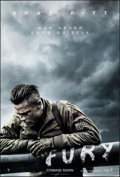 "Movie Posters:War, Fury (Sony, 2014). Rolled, Very Fine/Near Mint. One Sheet (27"" X 40"") DS Advance. War.. ..."