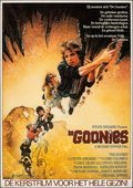 "Movie Posters:Adventure, The Goonies (Warner Bros., 1985). Rolled, Fine/Very Fine. Dutch Poster (32.5"" X 46.5""). Drew Struzan Artwork. Adventure.. ..."