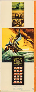 """Movie Posters:Adventure, The Old Man and the Sea (Warner Bros., 1958). Folded, Fine-. Insert (14"""" X 36""""). Adventure.. ..."""