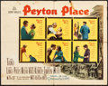 "Movie Posters:Drama, Peyton Place (20th Century Fox, 1958). Folded, Fine-. Half Sheet (22"" X 28""). Drama.. ..."