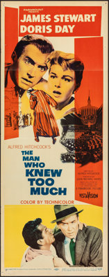 "The Man Who Knew Too Much (Paramount, 1956). Folded, Fine/Very Fine. Insert (14"" X 36""). Hitchcock"