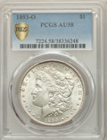 Morgan Dollars, 1893-O $1 AU58 PCGS. PCGS Population: (404/1086 and 8/27+). NGC Census: (436/685 and 0/15+). CDN: $1,700 Whsle. Bid for pro...