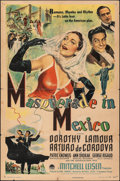 """Movie Posters:Comedy, Masquerade in Mexico & Other Lot (Paramount, 1946). Folded, Overall: Fine-. One Sheets (2) (27"""" X 41""""). Comedy.. ... (Total: 2 Items)"""