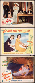 """Movie Posters:Comedy, Standing Room Only & Other Lot (Paramount, 1944). Fine/Very Fine. Lobby Cards (3) (11"""" X 14""""). Comedy.. ... (Total: 3 Items)"""
