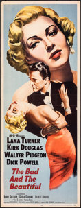 "Movie Posters:Drama, The Bad and the Beautiful (MGM, 1953). Rolled, Fine/Very Fine. Insert (14"" X 36""). Drama.. ..."