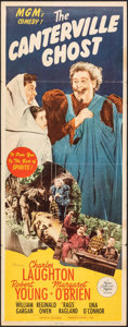"""Movie Posters:Comedy, The Canterville Ghost (MGM, 1944). Folded, Fine+. Insert (14"""" X 36""""). Comedy.. ..."""