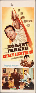 "Movie Posters:Drama, Chain Lightning (Warner Bros., 1949). Folded, Fine/Very Fine. Insert (14"" X 36""). Drama.. ..."