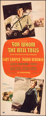 "For Whom the Bell Tolls (Paramount, 1943). Folded, Fine/Very Fine. Insert (14"" X 36""). Armando Seguso Artwork..."