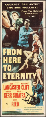 """From Here to Eternity (Columbia, 1953). Folded, Fine. Insert (14"""" X 36""""). Academy Award Winners"""
