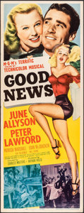 "Movie Posters:Musical, Good News (MGM, 1947). Folded, Very Fine-. Insert (14"" X 36""). Musical.. ..."