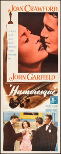 "Movie Posters:Romance, Humoresque (Warner Bros., 1946). Folded, Very Fine-. Insert (14"" X 36""). Romance.. ..."