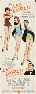"Movie Posters:Musical, Les Girls (MGM, 1957). Rolled, Fine. Insert (14"" X 36""). John Fernie Artwork. Musical.. ..."