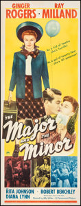 """Movie Posters:Comedy, The Major and the Minor (Paramount, 1942). Fine+ on Paper. Insert (14"""" X 36""""). Comedy.. ..."""