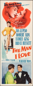 "Movie Posters:Crime, The Man I Love (Warner Bros., 1947). Folded, Very Fine-. Insert (14"" X 36""). Crime.. ..."